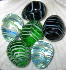 Art Glass Swirl 3 EGGS Nest Table Decor Basket Baby Shower Favor One Inch Smooth
