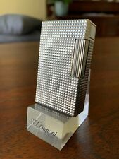 S.T. Dupont Lighter L1 Silver Diamond Head, fully serviced