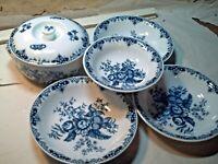 Royal Worcester Hanbury Fine Porcelain Oval Bowl Dishes Tureen Lot
