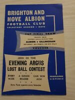 BRIGHTON and Hove Albion v Gillingham football programme 1965-66 division 3