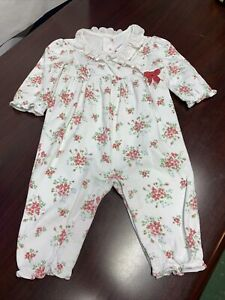 JANIE & JACK Baby Girl 3-6 Mos Floral Longsleeve layette/Longall~~A7
