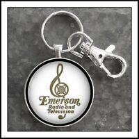 Vintage Emerson Radio And Television TV emblem Photo Keychain Gift Free Shipping