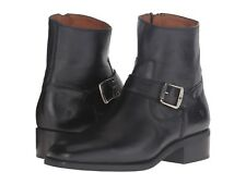 NEW Frye Hannah Engineer Black Leather Ankle Booties, Women Size 5.5,  $348