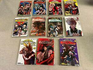 """My Hero Academia""  Manga lot vols 1-11 by Kohei Horikoshi JAPANESE LANGUAGE"