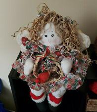 "Vintage 1996 Shelf Sitting Angel Doll My Collection Ben Franklin Stores 16"""