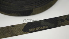 1 inch (25mm) MilSpec Multicam Black Nylon Webbing Double Sided (10 Yards)