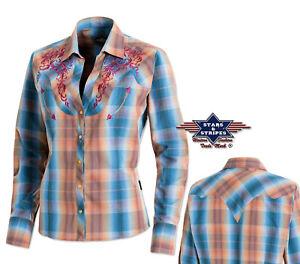 Bluse Whitney, Western, Country, langarm, Ausverkauf, neu, Gr. XL - Preishammer