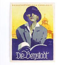 Original Werbeplakat BERGSTADTVERLAG Breslau Schlesien LUDWIG HOHLWEIN 20er RAR!