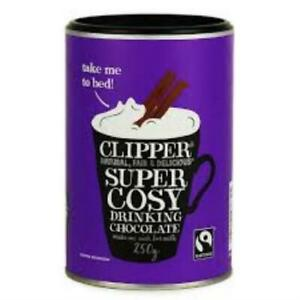 CLIPPER, Super Cosy Drinking Hot Chocolate Fairtrade, 250g VEGAN