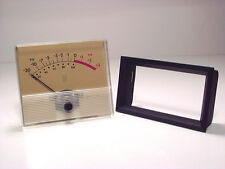 1- Quad Eight VU meter and mounting bezel ~ OUTSTANDING CONDITION!!