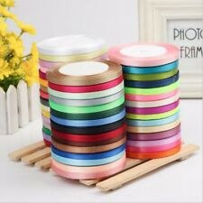 100 Rolls 25 Yds Length DIY Colorful Double-faced Ribbon for Wedding Party Craft