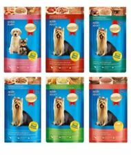Food Wet Animal Dog Puppy Pet Real Meat Gravy Jelly Salmon Beef Vegetable 130 g