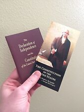 2 Lot Pocket Size United States Declaration Of Independence Constitution The US