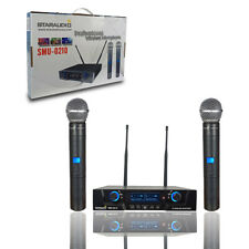 Staraudio 2 Channel Uhf Handheld Wireless Microphone System 2Ch Ir Microphone