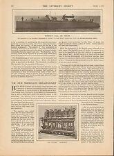 "1910 HEADLINE- NEW ""RATTLER"" SHIP ENGINE + Charles R. Flint; Sir Henry Ome"