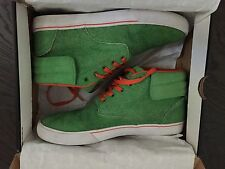 Supra Passion Lizard King Pro + Am Green Suede Limited Edition Shoes Sz US 11