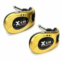 Xvive U2 Rechargeable Digital 2.4Ghz Wireless Guitar System, Gold, no licence