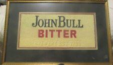 Vintage John Bull Bitter Brewery Est. 1799 Bar Towel Art Framed Man Cave Item!