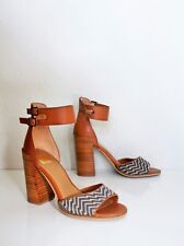ANTHROPOLOGIE CHUNKY HEEL SANDALS 9 Ankle Strap DOLCE VITA Shoes Heels