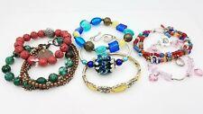 Pearl Stone Glass Fashion Bracelet Lot of 7 TS552