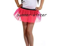 Plus Size Adult Uv Neon Hot Pink tutu skirt Dance night rave Fancy