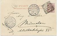 "2455 ""UPPER-HOLLOWAY-S.O. / 1"" Squared Circle Postmark MUNICH POSTMARK-ERROR1902"