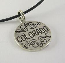 Colorado Gold Panner Charm Pendant Necklace .925 Sterling Silver USA Souvenir