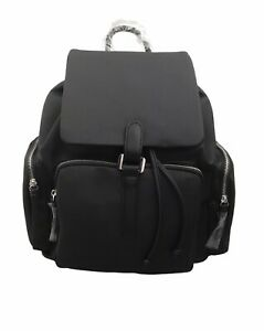 TOPSHOP Black Faux Leather Large Backpack BNWT