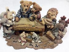 "Boyds Bears Resin "" Noah & Co Ark Builders"" Iob"