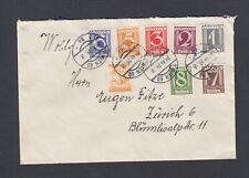 AUSTRIA 1925   EIGHT COLOR FRANKING COVER VIENNA TO ZURICH SWITZERLAND