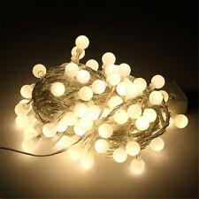 20 LED Warm White Light Retro Bulbs Globe Garden Xmas Fairy String Festoon Lamp