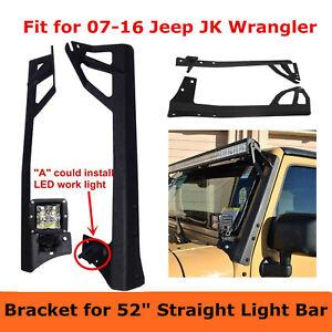 "for Jeep Wrangler JK 07-18 Upper&Lower Mounting Brackets fits 52"" LED Light Bar"