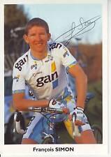 CYCLISME carte cycliste FRANCOIS SIMON équipe GAN 1996 signée