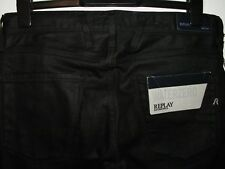 new REPLAY ANBASS WATERZERO slim fit coated style jeans M914 W31 L30