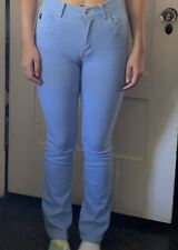 VINTAGE GUESS JEANS Soft Baby Blue Size 27 Skinny Straight