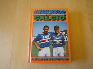 ALMANACCO ILLUSTRATO DEL CALCIO 1992 PANINI=MANCINI E VIALLI COVER=SERIE ABCD