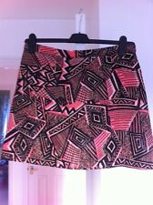 Topshop Skirt Size 14 New Black Coral