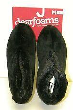 Women's, Dearfoams, Black, Bootie Slippers, M ( 7-8 ), NWT