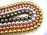 Hematite Smooth Round Ball Sphere Loose Heishi Gemstone Beads - Full Strand