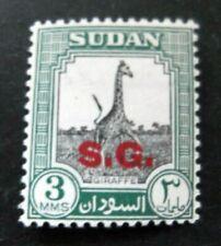 Sudan-1951-3M Black & Green Official-Sg069-Mh Good gum