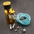 Alloy Car Racing Engine Gold 0.3L Reservoir Breather Oil Tank Can Catch Filter
