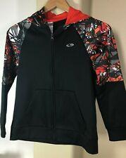 29e79ec75603 Champion Duo Dry Black Red Gray Zip Fleece Hoodie Sweatshirt Jacket Youth  Medium