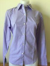 Lauren Ralph Lauren Cotton Non Iron Women Stripe Shirt Long Sleeve Size S NEW