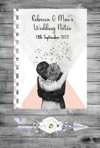 Personalised Wedding Planner Notebook Journal Organiser Checklist Bride A5 53