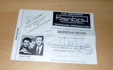 Depeche Mode *frühes Autogramm 1982*, original signed Card ca. 13x18 cm, LOOK