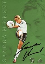 Autogramm Sandra  Minnert Fußball Frauen Weltmeisterin Olympia Bronze DFB Karte