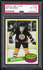 1980 81 OPC O-Pee-Chee #140 Raymond Bourque PSA 6 Rookie RC Boston Bruins