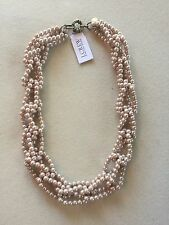 J. Crew Factory Store - Pink Imitation Pearl Link Necklace - NWOT