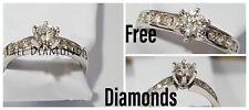 ANELLO SOLITATIO MOD TIFFANY ORO BIANCO 18 KT DIAMANTI 0,90 CT - FREE DIAMONDS