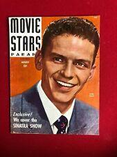 "1944, Frank Sinatra, ""MOVIE STARS"" Magazine  (No Label )Scarce / Vintage"